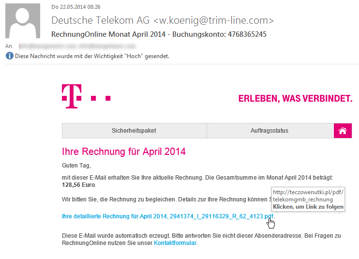 telekom rechnung email torirespast. Black Bedroom Furniture Sets. Home Design Ideas