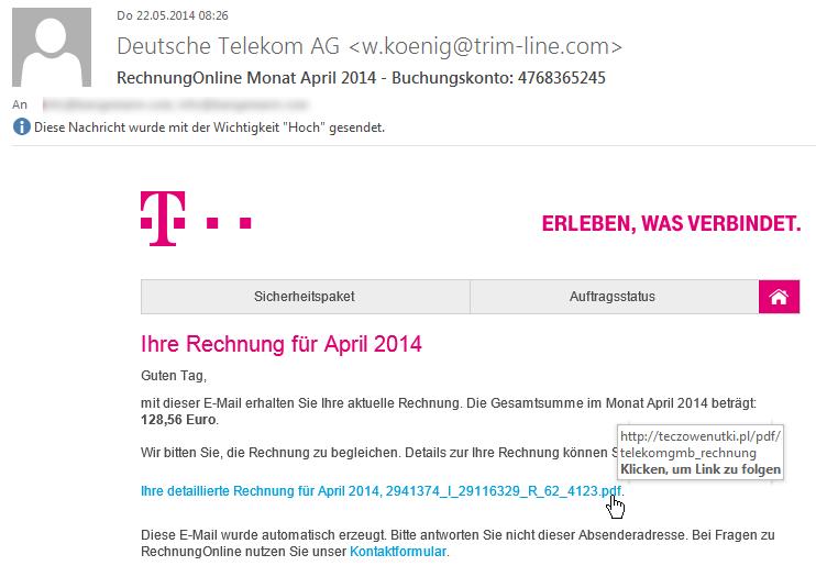 Telekom rechnung email